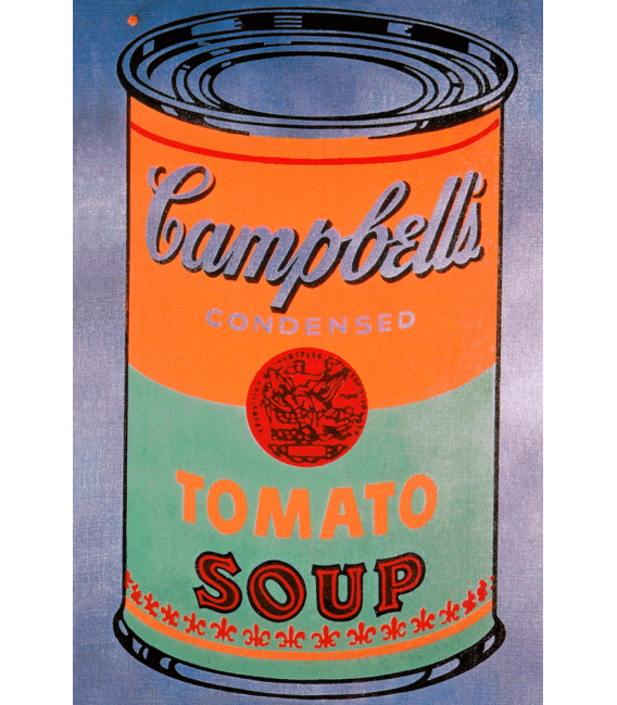 Andy Warhol - Campbell's Soup Can Tomato Orange. Stampa su tela