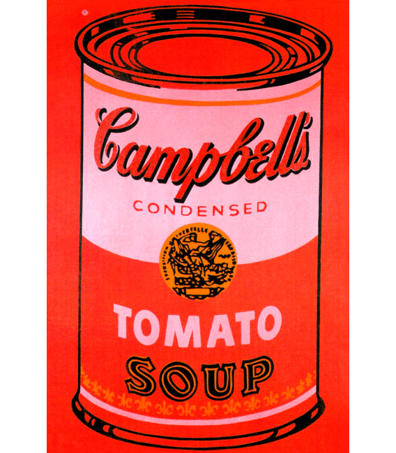 Andy Warhol - Campbell's Soup Can Tomato Red. Stampa su tela