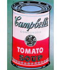 Andy Warhol - Campbell's Soup Can Tomato Rosa. Stampa su tela