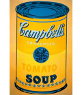 Andy Warhol - Campbell's Soup Can Tomato Yellow. Stampa su tela