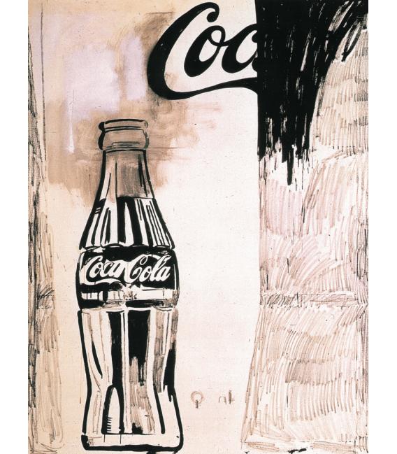 Andy Warhol - Coca Cola 1960. Stampa su tela