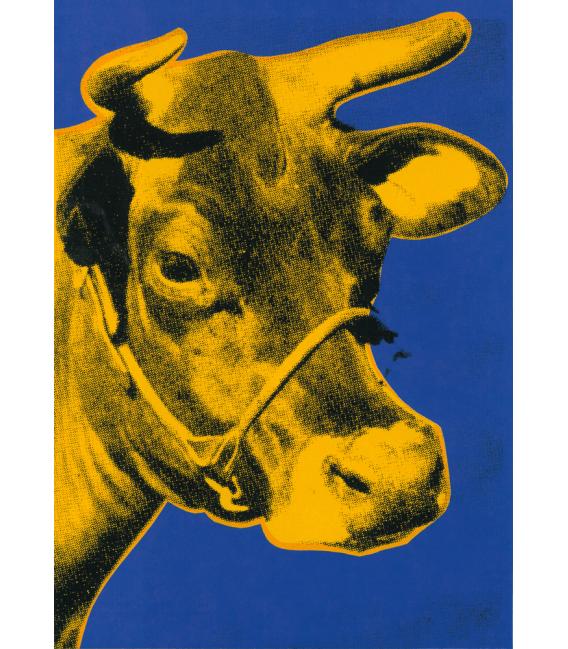 Andy Warhol - Cow. Stampa su tela