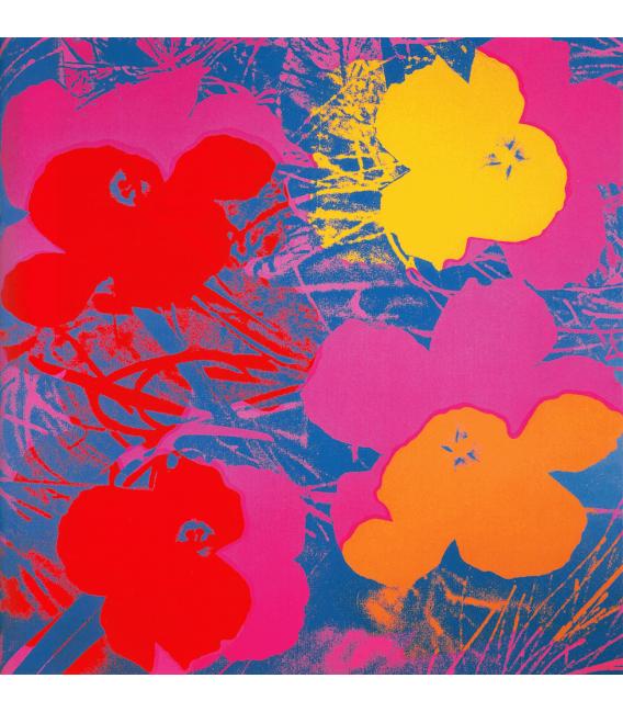 Andy Warhol - Flowers 2. Stampa su tela