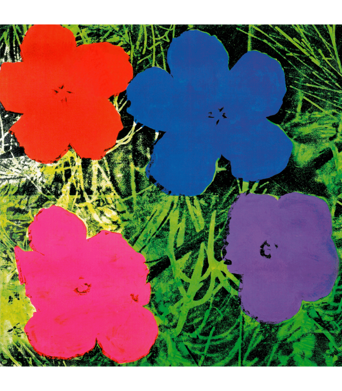 Giclée Print on canvas: Flowers - Andy Warhol