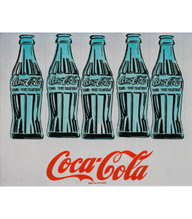 Andy Warhol - Five Cpke Bottle. Stampa su tela