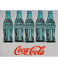Andy Warhol - Five Cpke Bottle. Printing on canvas