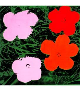 Andy Warhol - Flowers. Stampa su tela