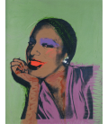 Andy Warhol - Ladies and Gentlemen. Printing on canvas