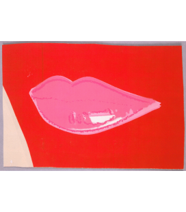 Andy Warhol - Lips III. Printing on canvas