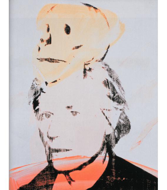 Andy Warhol - Self-Portrait with Skull. Stampa su tela