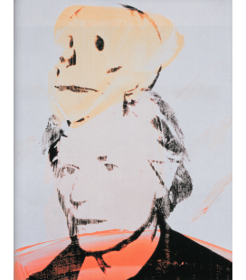 Andy Warhol - Self-Portrait with Skull. Stampa su tela