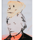 Andy Warhol - Self-Portrait with Skull. Printing on canvas