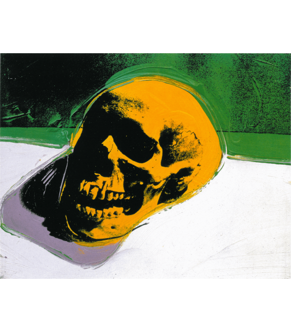 Andy Warhol - Skull. Stampa su tela