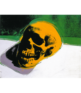 Andy Warhol - Skull. Printing on canvas