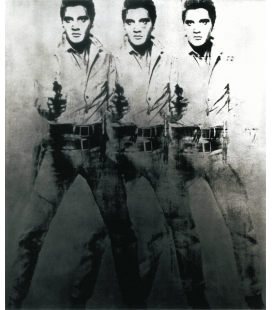 Andy Warhol - Triple Elvis. Printing on canvas