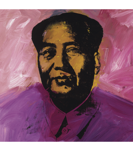 Andy Warhol - Mao, signed and dated. Printing on canvas