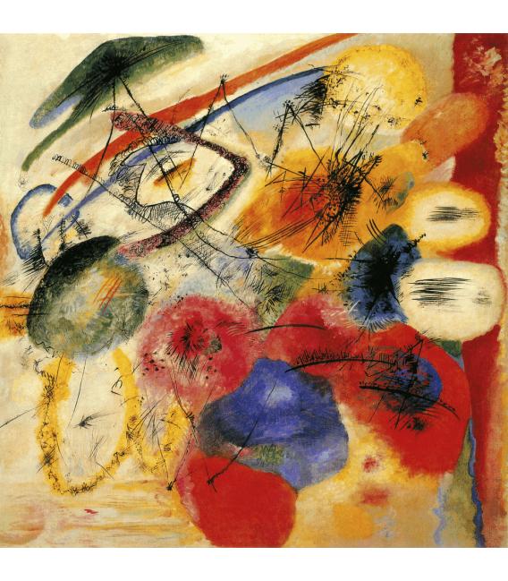 Stampa su tela: Vassily Kandinsky - Linea Nera I