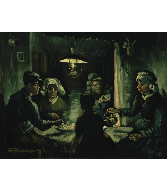 Stampa su tela: Vincent Van Gogh - Mangiatori di patate