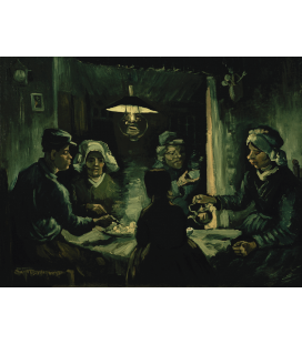 Vincent Van Gogh - The Potato Eaters. Printing on canvas