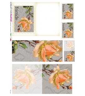 Carta di riso Decoupage: Cartoline Postali con Fiori