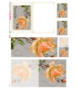 Decoupage rice paper: Postal Cards with Flowers