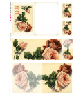 Decoupage rice paper: Postal Cards Hope Rose