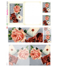 Decoupage rice paper: Postal Cards Roses with red ribbon