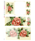 Decoupage rice paper: Postal Cards Roses and Memories