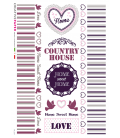 Decoupage rice paper: Country Home