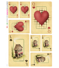 Decoupage rice paper: Playing cards with heart