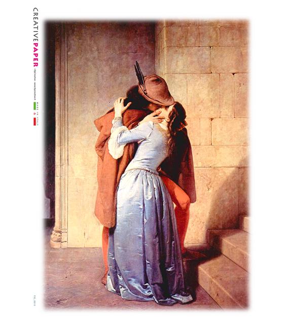 Decoupage rice paper: The kiss of Francesco Hayez