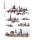 Decoupage rice paper: Tour Eiffel in Europe