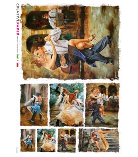 Carta di riso Decoupage: Tango argentino