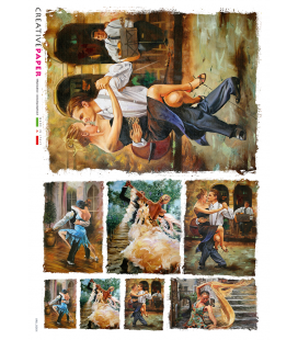 Decoupage rice paper: Argentine tango
