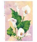 Decoupage rice paper: White calla lilies