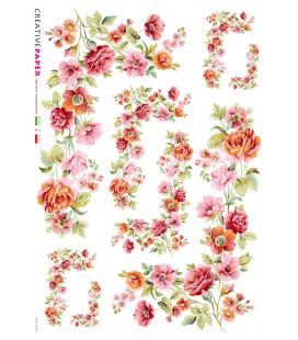 Carta di riso Decoupage: Bouquet di primavera