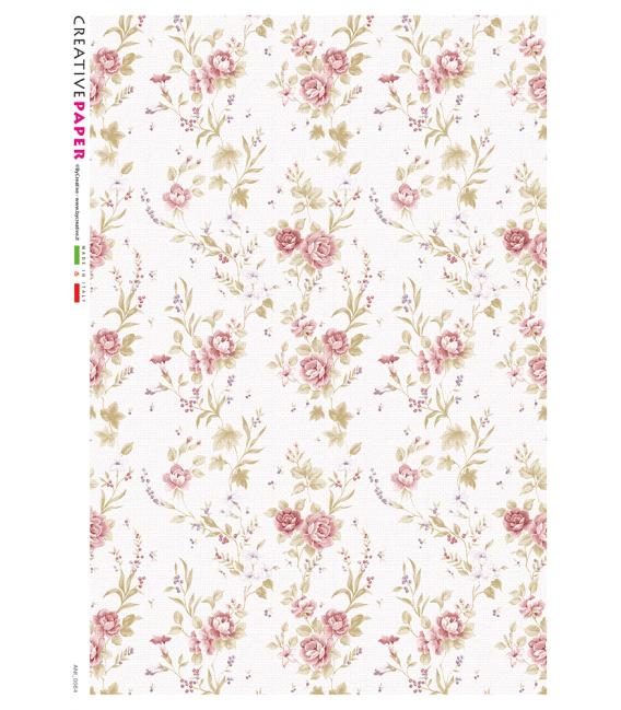 Carta di riso Decoupage: Texture provenzale - rose rosa