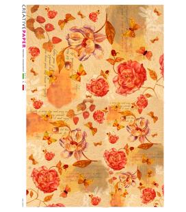 Carta di riso Decoupage: Rose d'amore