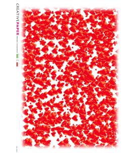 Carta di riso Decoupage: Texture di Cuori di San Valentino