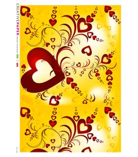 Decoupage rice paper: Joyful hearts