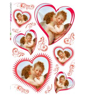 Carta di riso Decoupage: Angeli innamorati
