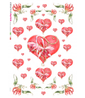 Decoupage rice paper: I give you my heart