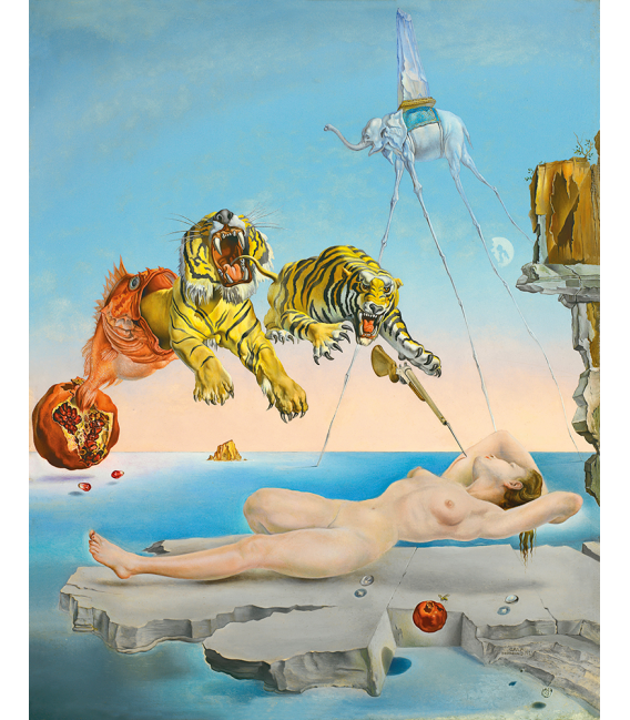 Stampa su tela: Salvador Dalí - Sogno causato dal volo di un ape intorno a una melograna un secondo prima della sveglia