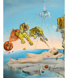 Salvador Dali - Dream Caused by the Flight of a Bee around a Pomegranate a Second before Waking. Printing on canvas