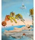 Printing on canvas: Salvador Dali - Dream Caused by the Flight of a Bee around a Pomegranate a Second before Waking