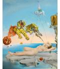 Salvador Dalí - Sogno causato dal volo di un ape intorno a una melograna un secondo prima della sveglia. Stampa su tela