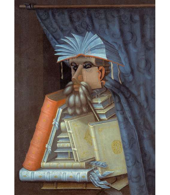 Printing on canvas: Giuseppe Arcimboldo - The bookseller