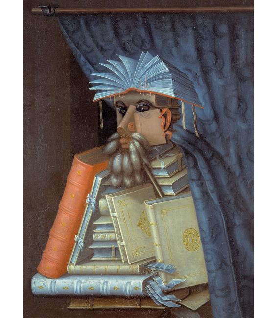 Stampa su tela: Giuseppe Arcimboldo - Il libraio