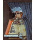 Giuseppe Arcimboldo - The bookseller. Printing on canvas