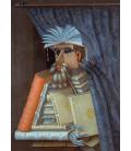 Giuseppe Arcimboldo - Il libraio. Stampa su tela